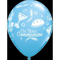 Ballon Décoration Communion Baptême Bleu Clair - Qualité premium