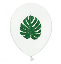 6 Ballons Latex Feuilles Jungle Vert Foncé - Tropical party