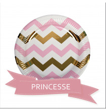 Pack Baby Shower Chevron Rose et Doré