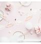 Banderole à Fanions Thème Cygne Rose Poudré Blanc et Doré