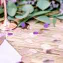 Confettis ronds Rose Gold Cuivré - Décoration de table
