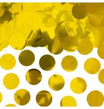 Confettis ronds dorés - Décoration de table métallisée