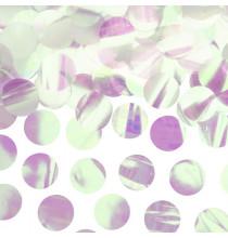 Confettis ronds holographiques - Décoration de table métallisée