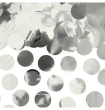 Confettis ronds gris argent - Décoration de table métallisée