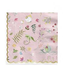 Serviettes Premium Princesses Motifs Floraux
