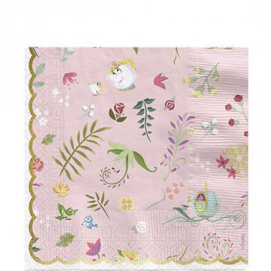 Serviettes en Papier Premium Princesses Motifs Floraux
