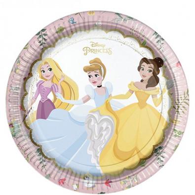 Grandes Assiettes Rondes Princesses Disney Cendrillon Belle Raiponce