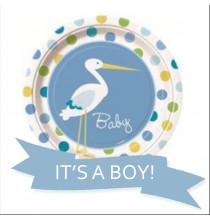 Pack Baby Shower Cigogne C'est un garçon