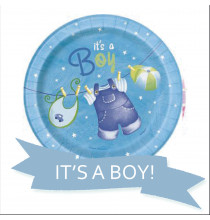 Pack pour Baby Shower Party Bleu Garçon