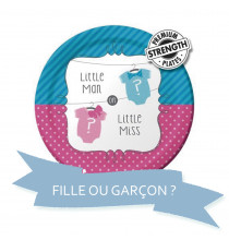 Pack Baby Shower Little Man Little Miss