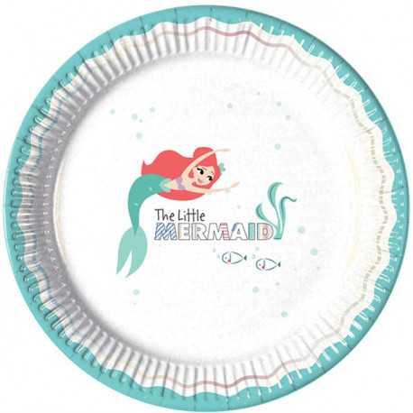 Grandes Assiettes Ariel Petite Sirène - Disney Premium