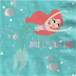 Grandes Serviettes en Papier Ariel Petite Sirène - Disney Premium