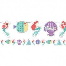 Banderole A Fanions en Papier Ariel Petite Sirène - Disney Premium