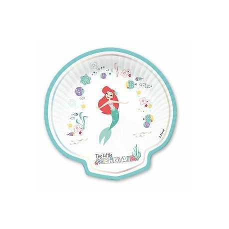 Grandes Assiettes Coquillage Ariel Petite Sirène - Disney Premium