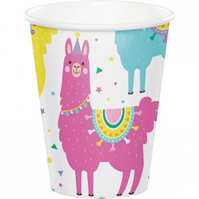 Gobelets en papier thème Lama et Cactus - Anniversaire pour enfant
