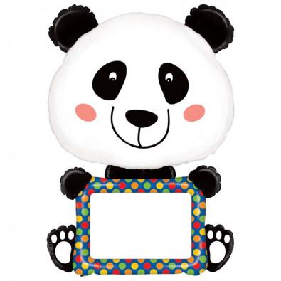 Ballon Alu XXL Personnalisable Panda Anniversaire