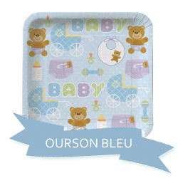 Pack Baby Shower Ourson Bleu