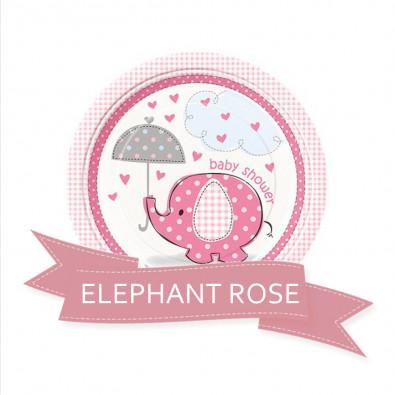 Pack pour Baby Shower Party sur le Thème Petit Eléphant rose pour fille