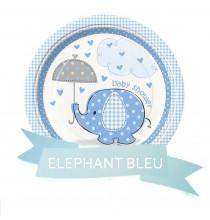 Pack pour Baby Shower Party sur le Thème Petit Eléphant bleu pour garçon