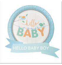 Pack Baby Shower Hello Baby Oiseau Bleu
