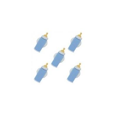Décorations en Sucre Biberon Bébé Bleu