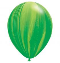 Ballons latex effet marbré vert agathe - Décoration de fête