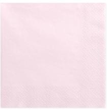 Grandes Serviettes Papier Rose Pastel Poudré Vaisselle Jetable de Fête