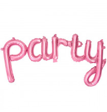 Ballon Party Rose en Alu - décoration de fête