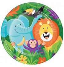 Verres Jetables Anniversaire Jungle Party Happy Birthday