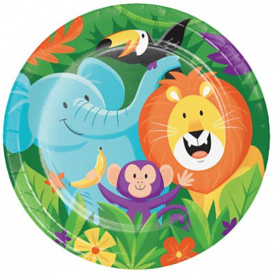 Grandes Assiettes Safari Jungle Anniversaire