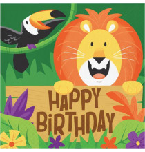 Serviettes en Papier Lion Thème Jungle Safari Anniversaire