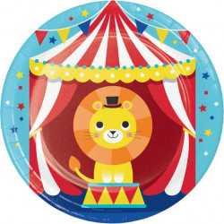Petites Assiettes en Papier Anniversaire Cirque
