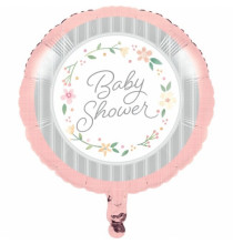 Ballon Alu Baby Shower Florale - Fleurs
