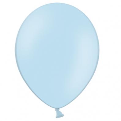 100 Ballons 23cm Latex Bleu Pastel Poudré Fête