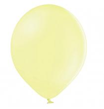 100 Ballons 23cm Latex Jaune Pastel Poudré Fête