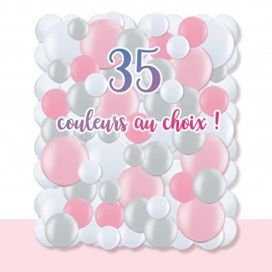 Kit Taille M - Mur de Ballons Organiques - 35 couleurs au choix