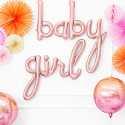 """Ballon Géant """"Girl"""" Rose Cuivré Gold Baby Shower"""