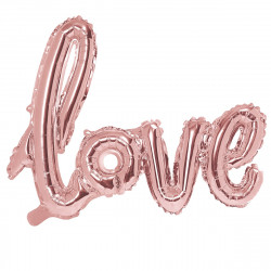 Ballon Love Rose Cuivré Gold Hello World Baby Shower