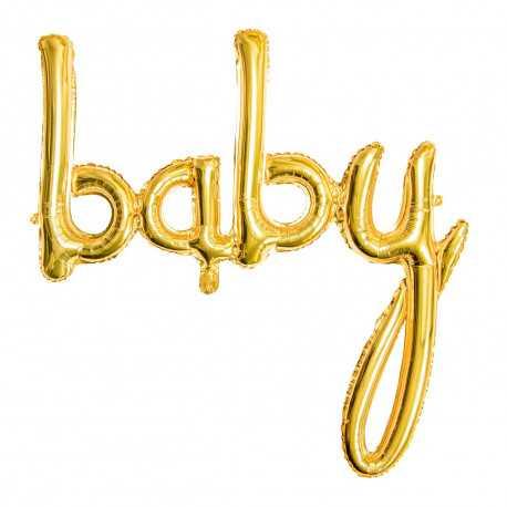 """Ballon """"Baby"""" Mot - Doré Or Décoration de fête"""