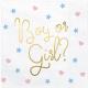 16 Grandes Serviettes en Papier Gender Reveal Boy or Girl ?