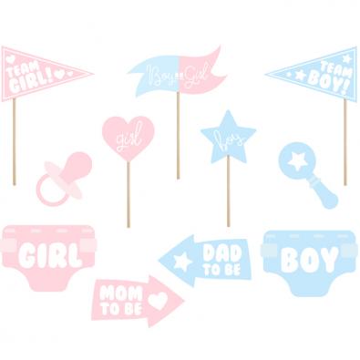 Accessoires Photobooth Gender Reveal Baby Shower Fete De Naissance