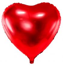 Ballon Alu Coeur Rouge - Décoration Anniversaire