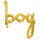 Ballon Mot Boy Doré - Manuscrit Décoration