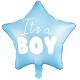 Ballon Etoile It's a boy - Bleu clair