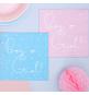 20 Grandes Serviettes 2 Faces Boy or Girl ? Rose ou Bleu