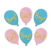 6 Décors en Sucre Boy or Girl ? - Cup Cakes et Gâteaux