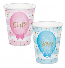 Gobelets en Papier Baby Shower Boy or Girl ?