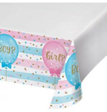 Nappe en Plastique Gender Reveal Baby Shower Boy or Girl ?
