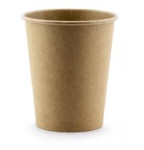 6 Gobelets en Papier - Kraft - Vaisselle Jetable à Personnaliser