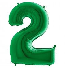 Ballon Géant Alu Vert 2 Ans Fête d'Anniversaire